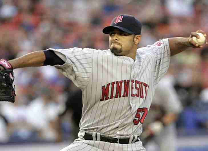 The Minnesota Twins to induct Johan Santana to their Hall of Fame.