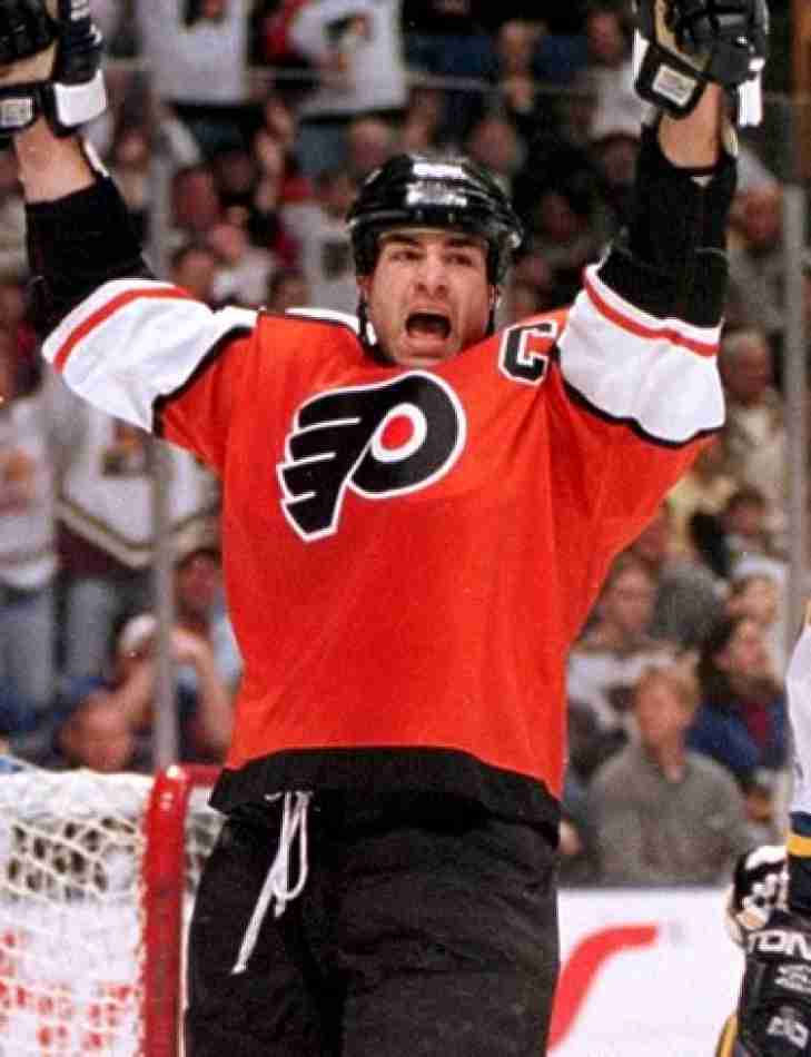 The Philadelphia Flyers retire the #88 of Eric Lindros